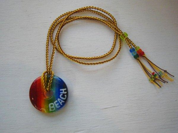 3.5 SEA Rainbow|ネックレス(イエロー×ブラウンストラップ)