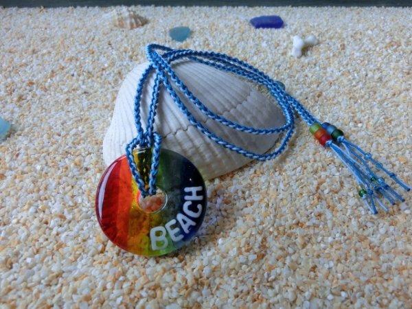 3.5 SEA Rainbow|ネックレス(水色×スカイブルーストラップ)