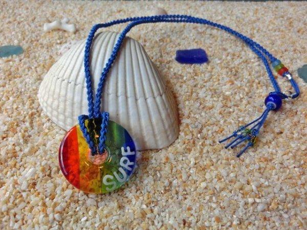 2.8 Sea Rainbow ネックレス(ブルーストラップ)