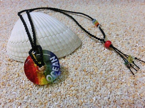 2.8 Sea Rainbow ネックレス(ブラックストラップ)