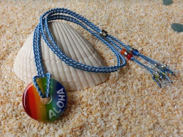 2.8 Rainbow|ネックレス(水色×スカイブルーストラップ)