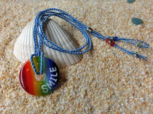 3.5 Rainbow|ネックレス(水色×スカイブルーストラップ)